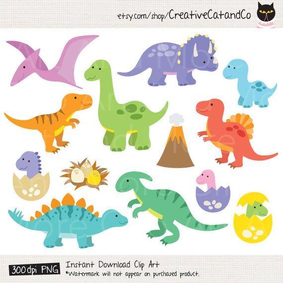 Dinosaur Clipart Dinosaur Clip Art T Rex Clipart Baby Dinosaur Etsy Dinosaur Clip Art Baby Clip Art Cute Dinosaur