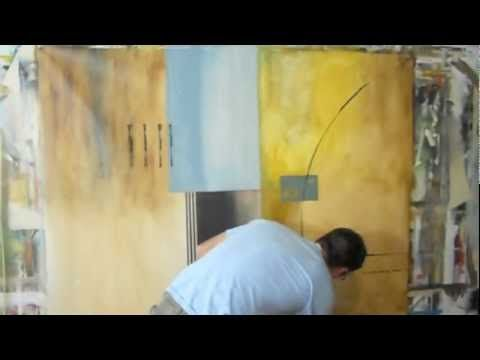 """""""Interesting Perspective"""" By Gino Savarino - YouTube....I like how he uses the squeegee and flexible 'rod' to make the linear details!"""