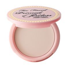 Primed and Poreless Paraben Free Pressed Powder to wear under Foundation  or on top for a setting powder $30. Want to try it- Too Faced