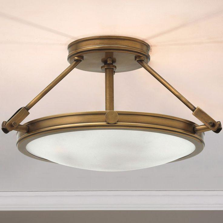 "Mid-Century Retro Ceiling Light - Small antique_brass 239.00  3x60 watt candelabra base lamps  max.(9.3""Hx16.5""W)"
