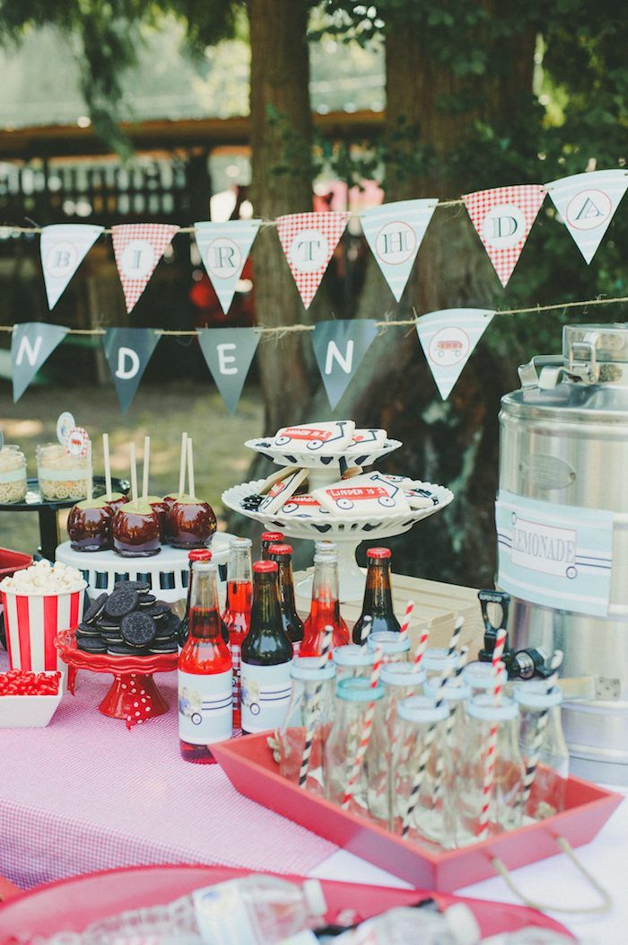 Little Red Wagon 1st birthday party via Kara's Party Ideas KarasPartyIdeas.com Printables, cakes, supplies, desserts, food, and more! #littleredwagon #wagonparty #firstbirthday #redwagon #redwagonparty (7)