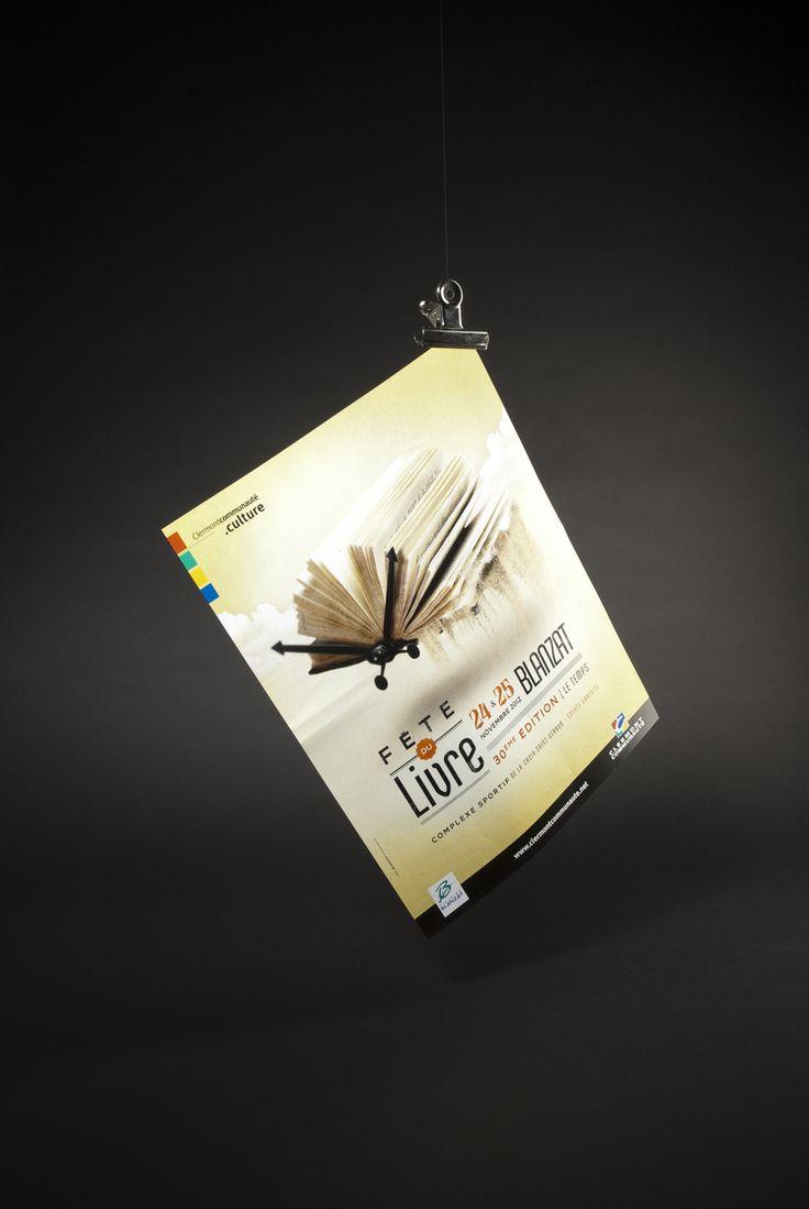 Affiche Fête du livre, Clermont-Communauté