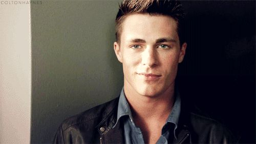 And also seductive apple-eating faces like this. | 32 Things That Prove Colton Haynes Is The Most Beautiful Man Alive