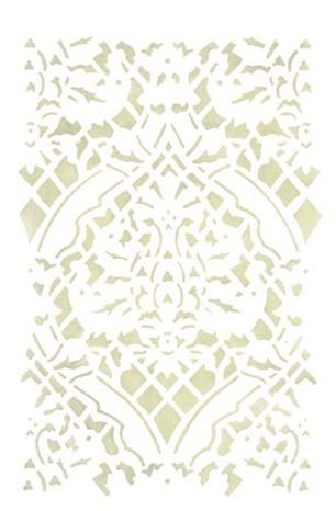 Small Overall Damask Wall Stencil