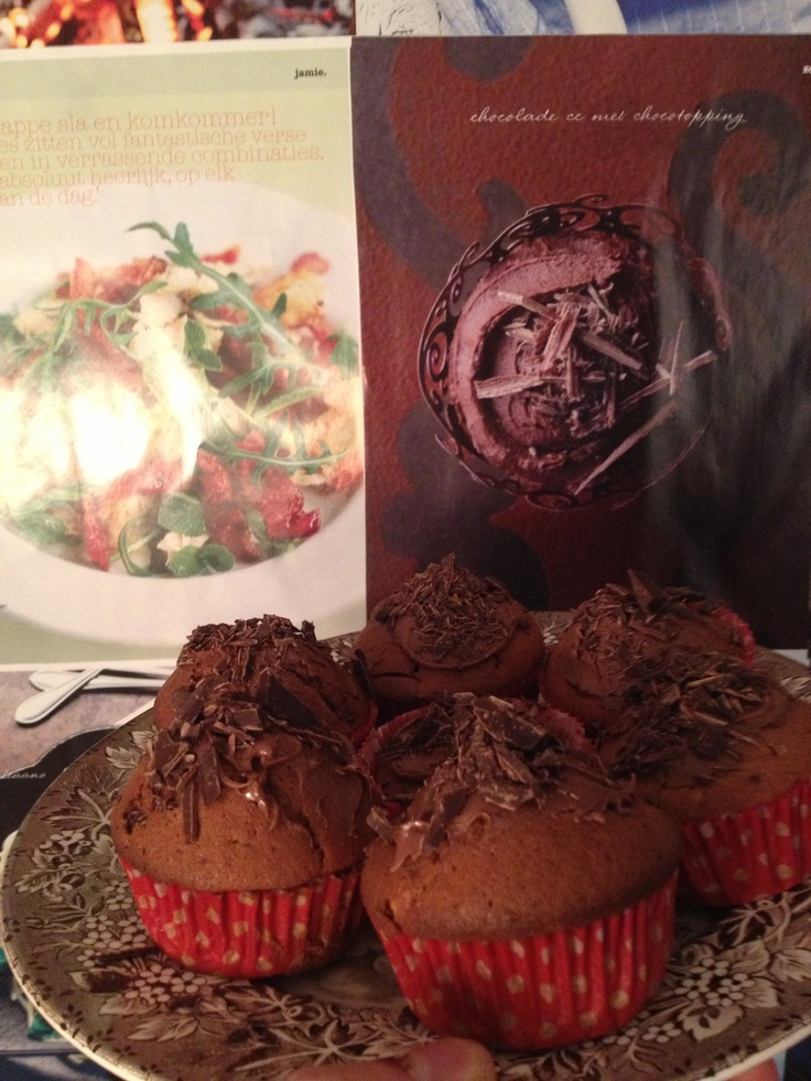 Chocolate muffins with hazelnuts, Tony Chocolonely chocolate and Nutella