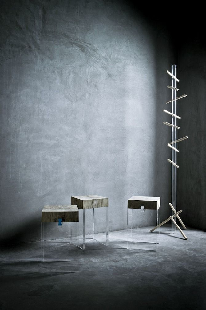 Trunk and Woodpecker by mist-o #furniture #wood #merge #plexi