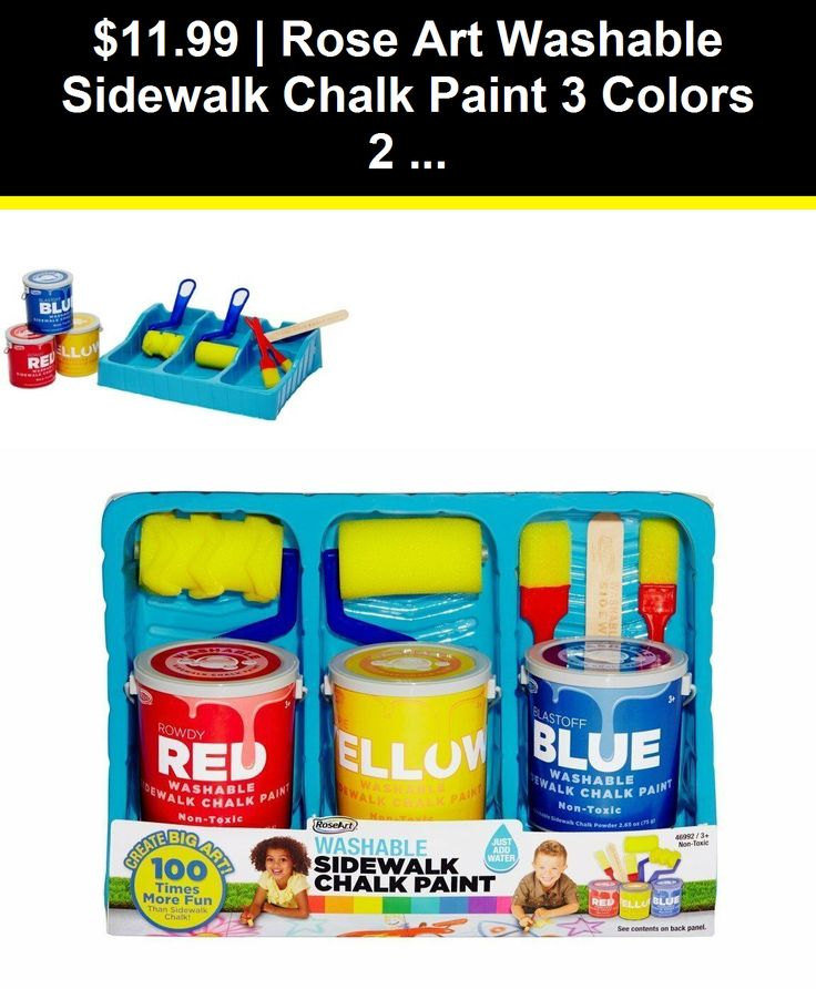 Other Kids Drawing and Painting 160718: Rose Art Washable Sidewalk Chalk Paint 3…  – Other Kids Drawing and Painting 160718