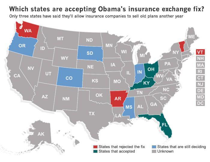 States react to Obama's insurance '