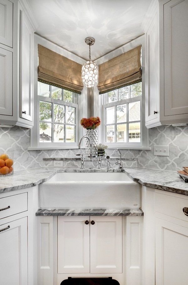 Kitchen Corner Sink Ideas Part - 20: Kitchen Sink Ideas Farmhouse Sink Corner Sink Tile Backsplash