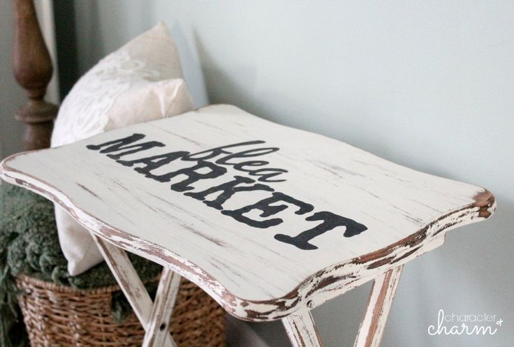 DIY Distressed Farmhouse Trays for $10 {Tutorial}