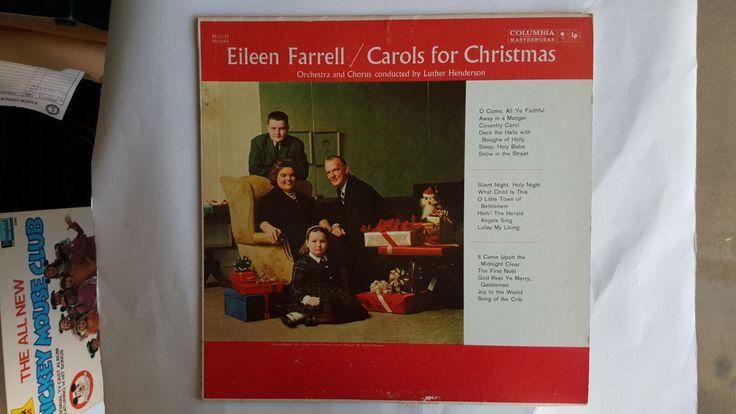 Vintage Christmas album: Eileen Farrell Carols for Christmas by MusicAndMuse on Etsy