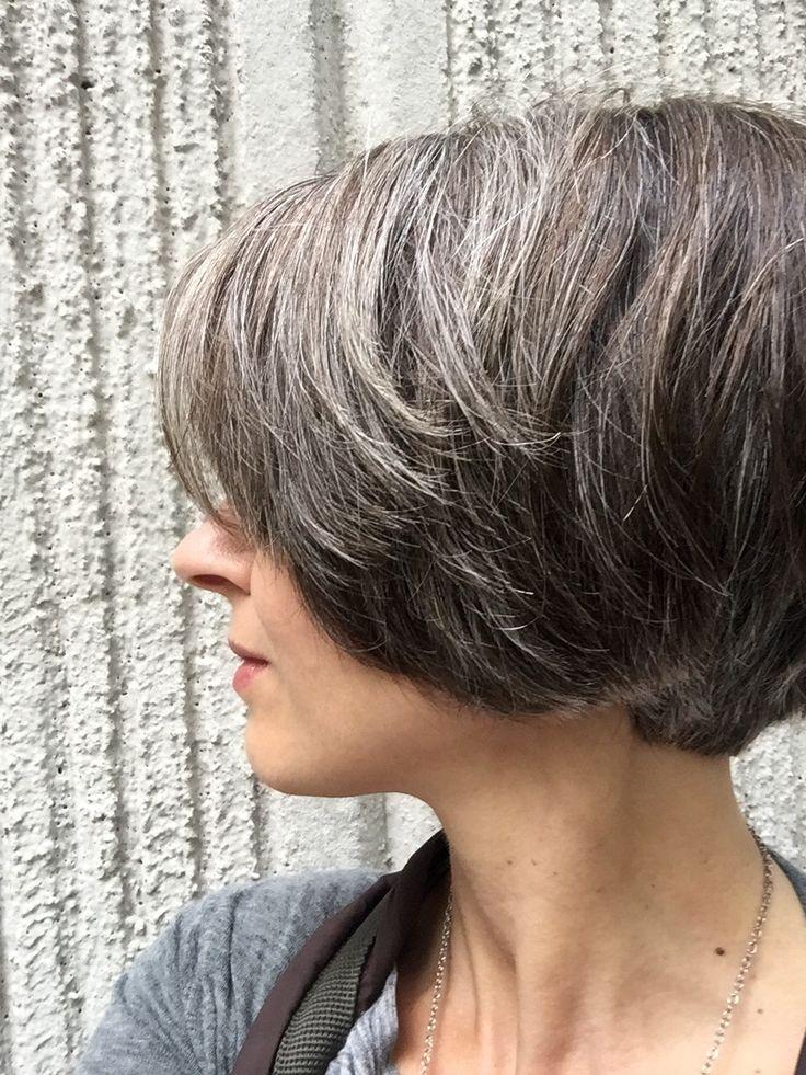 Natural highlights - icy brown hair.
