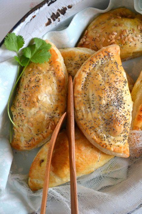 Chaussons végétaux aux légumes, lupin & épices http://www.lesrecettesdejuliette.fr