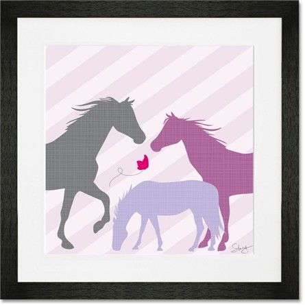 @rosenberryrooms is offering $20 OFF your purchase! Share the news and save!  Modern Horses - Purple Framed Art Print #rosenberryrooms