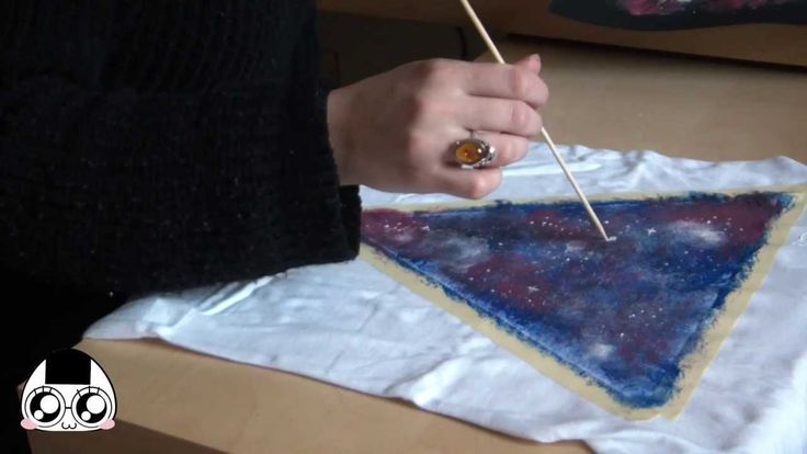 DIY: Come creare una T-shirt Galassia ❤ galaxy t-shirt diy