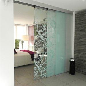 Glasses glass doors and frames on pinterest - Puertas correderas colgantes ...