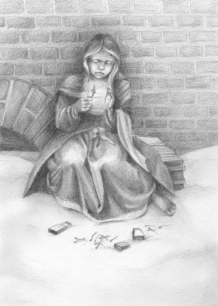 Девочка со спичками картинки к сказке