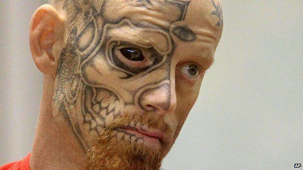 Eyeball tattoo on convictum criminal, Jason Barnum. Very risky on the health side, but I just love it.