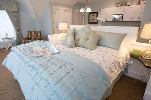 Guest room at the Inn at Torch Lake in Alden, Michigan. Looks very serene and relaxing. $200/night.
