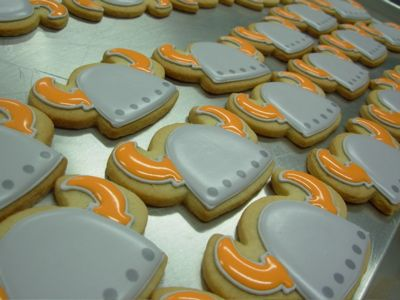"""Dessert Item - Ordered these yummy viking cookies with """"uff-dah!"""" on them!!"""