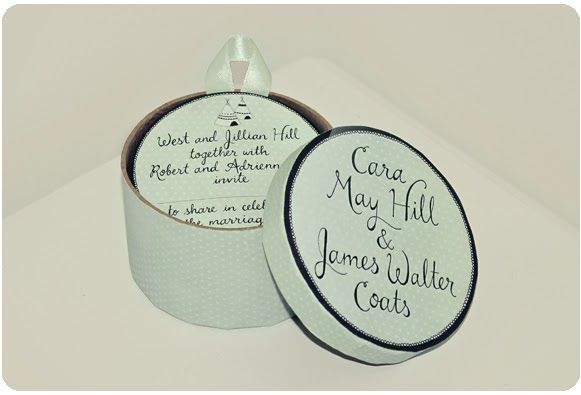 I've just finished making wedding invitations for my good friends James and Caramay. We based the design around these round boxes and ...