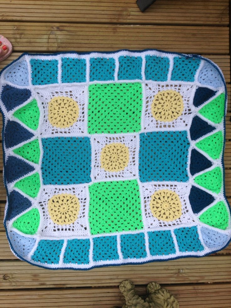 Crochet squares and triangles