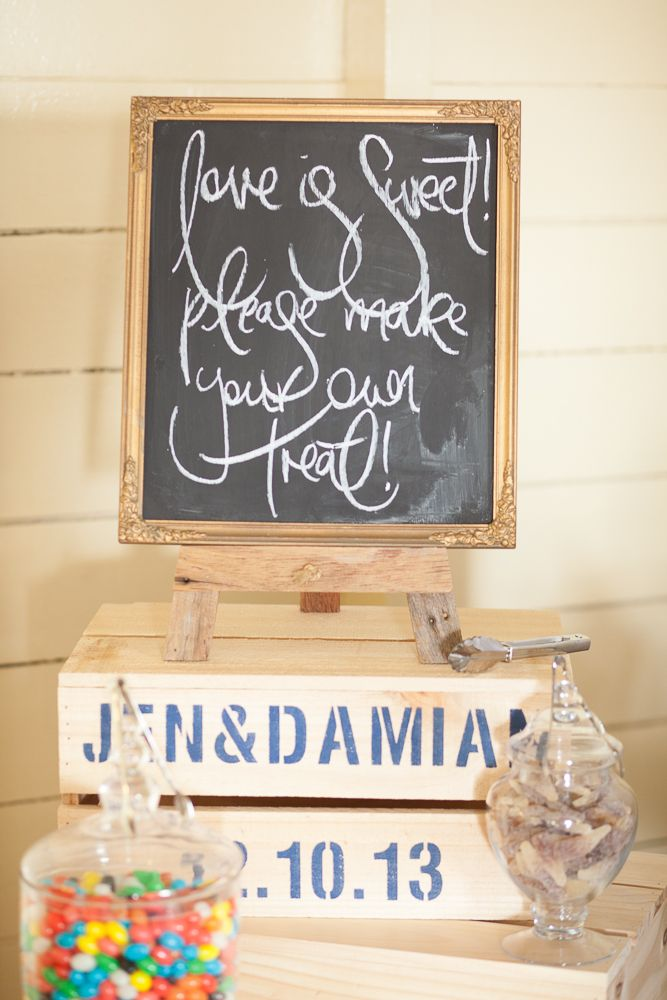 Get the look: the Interiors Addict guide to wedding styling Wedding, Jen Bishop, lolly buffet, candy buffet, sweets, crates, handwriting, chalkboard sign, calligraphy, jelly beans, Athol Hall, lolly jars, apothecary jars