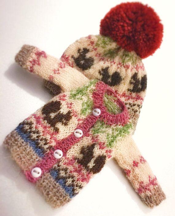jiajiadoll hand knitting-coloured squirrel knitted by jiajiadoll