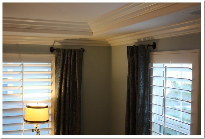 Towel Rod Used As A Curtain Rod But Put On Ceiling Above