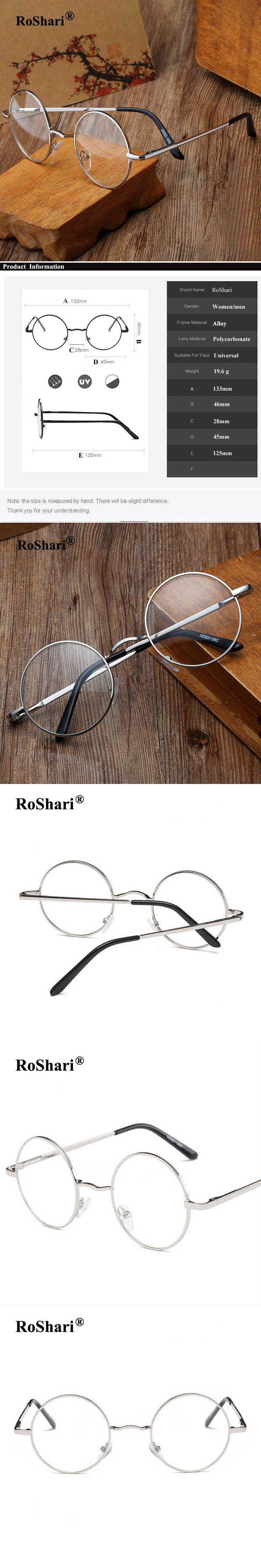 RoShari Vintage steampunk Sunglasses Women Men Brand Designer Clear Round Sun Glasses men Changed Nerd sunglass oculos de sol