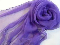 Seidenschal 180x55cm violett Chiffonschal  Stola