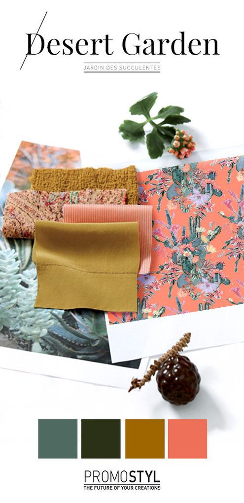 TRENDS // PROMOSTYL - SS 2018 TRENDS // PROMOSTYL - SS 2018 Promostyl is a trend service providing a global view of trends, fashion and design. To learn more, go to their website Promostyl.com.   Here is a preview of their SS18 trends, Desert Garden and Carefree Garden:  Desert Garden - SS 2018  Full and solar tones compose a garden of succulents: water-soaked greens of Yucca and Aloe Vera, meet sun-drenched Amber and Kalanchoe. Animated textures, embroideries and fleshy plants crowned with…