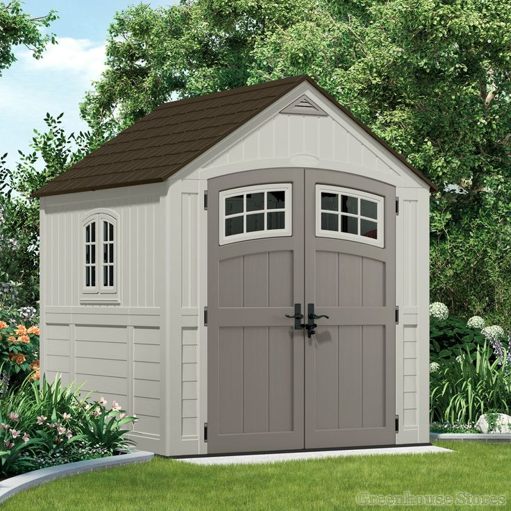 Suncast 7x7 Cascade Two Plastic Shed  http://www.greenhousestores.co.uk/Suncast-7x7-Cascade-Two-Plastic-Shed.htm
