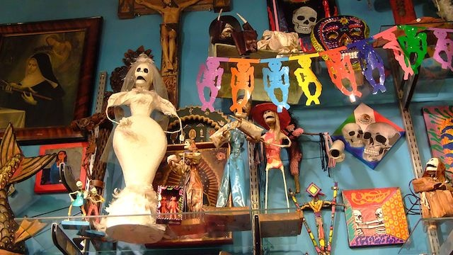 Day of the Dead items, NYC.