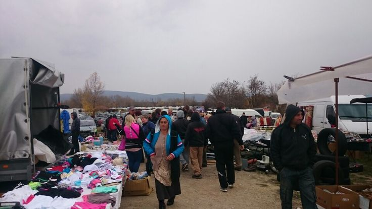 Polish market, mercadillo  Veszprem