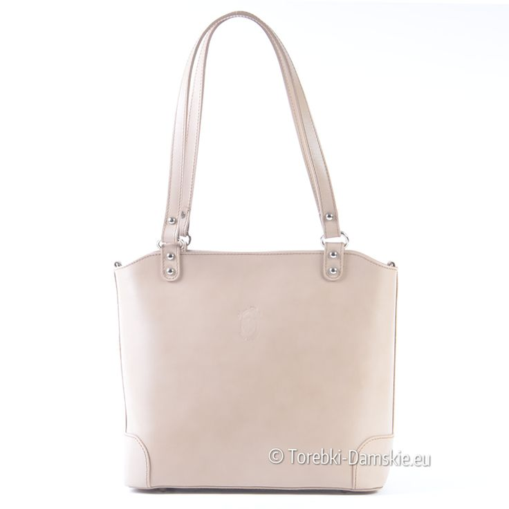 Włoska kremowa jasnobeżowa torebka (kolor ecru) wykonana ze skóry naturalnej. Na ramię, do przewieszenia, piękne kształty, średnia wielkość - Kliknij i sprawdź cenę: http://torebki-damskie.eu/ecru/1507-jasnobezowa-skorzana-torebka-na-ramie.html