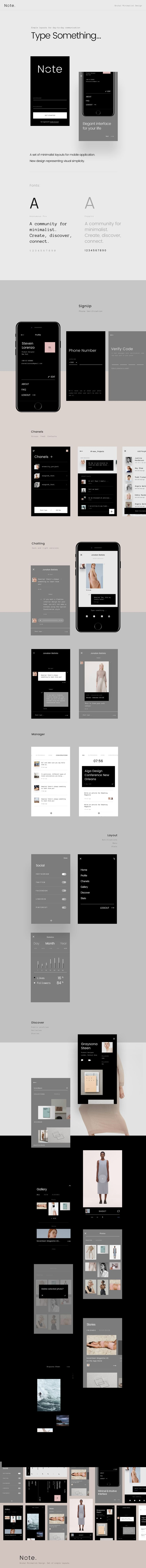 Note - Brutal Minimalist Design Concept on Behance