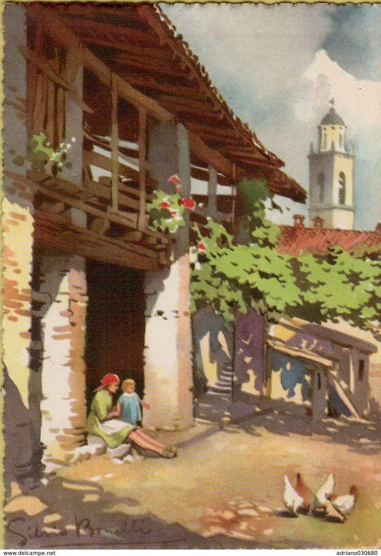141192 Cartolina Illustrata Da Silvio Bonelli - Non Classés