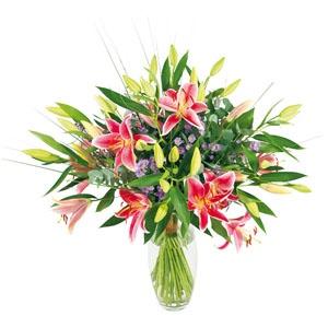 Bouquet de Lys Stargazer et aster. #bouquet