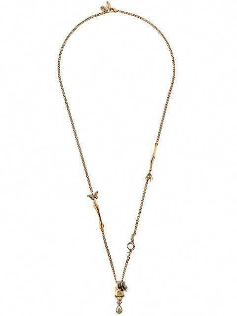 b40830095 ALEXANDER MCQUEEN butterfly skull necklace. #alexandermcqueen #necklace
