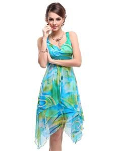 Ever Pretty Women's Floral Printed Empire Beach Summer Dresses/ Casual Dress 03187