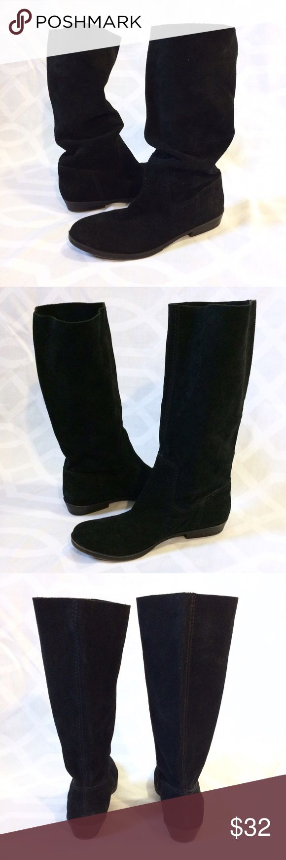 ✨NWOT✨ NINE WEST Black Suede Slouch Boots NINE WEST Black Suede Mid-Calf/Below the Knee Boots. Perfect Boho Chic All Year Round.  Condition: New/NWOT, factory fading on sole.   Material: Genuine Leather Suede Upper, manmade Balance  Style: NWFROLLIC Size: 7.5 Heel Height: 1in Sole Height: 3/8in Shaft Height: 13in Nine West Shoes Combat & Moto Boots