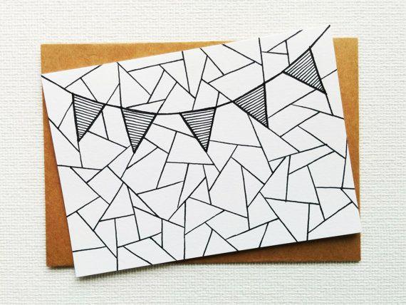 Card - Birthday card - Happy birthday - Anniversary card - Greeting card - Wedding card - Congratulations card - Party card - Flag garland