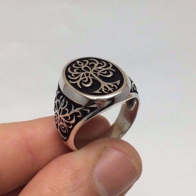 Турецкие османские украшения деревом жизни мотив 925K стерлинговое серебро мужские кольца | Украшения и часы, Украшения для мужчин, Кольца | eBay!