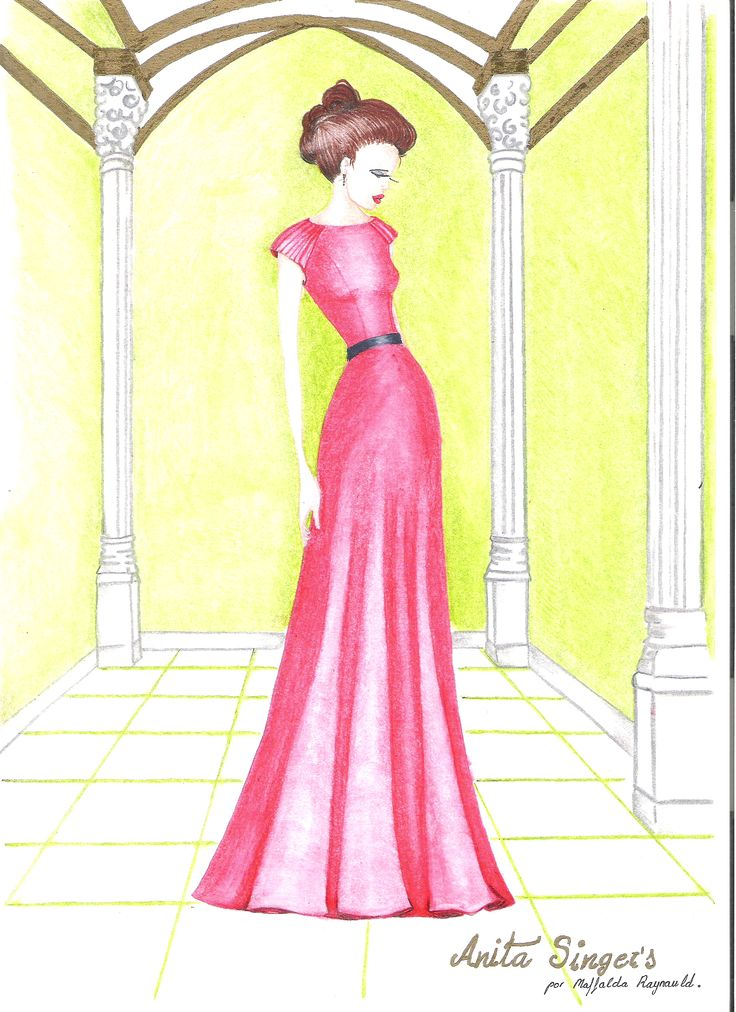 Ilustración Vestido Marta Araujo  By Anita Singers. https://www.facebook.com/media/set/?set=a.565657120127983.147181.565541916806170&type=3