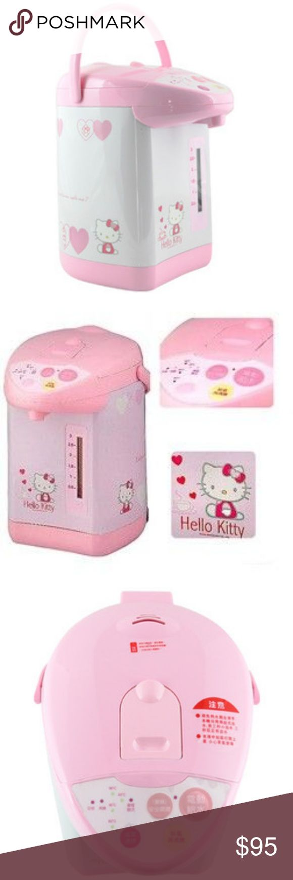 San Rio Hello Kitty Mini Fridge/ Heater Mini fridge San Rio hello kitty mini fridge with handle for travel to dorm or beach in the house in office or bedroom.  Never used, still in original box.  A collector item that can either be enjoyed and used now or saved and accumulate more worth. ABLE TO BE USED COLD OR TO HEAT!! . Feel free to search hello kitty mini fridge and see what the going prices are. For the places that even have them in Stock. *DOES NOT COME WITH CORDS*!!. The cords are…