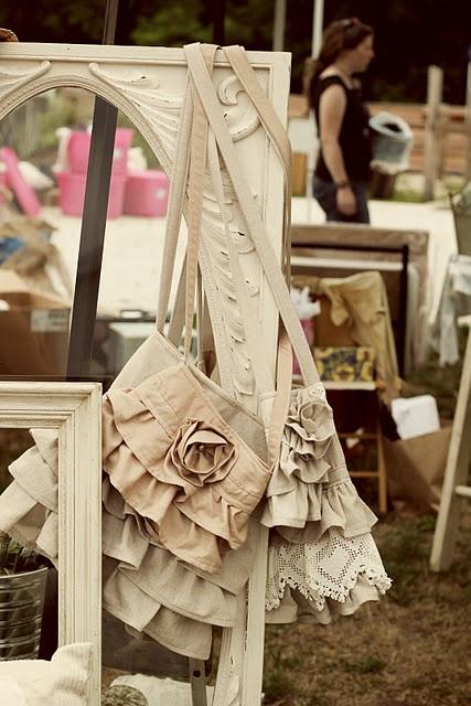 beautiful ruffly bags  whimsydecor.blogspot.com