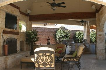 Covered Outdoor Kitchen And Patio Attached To House Ideas
