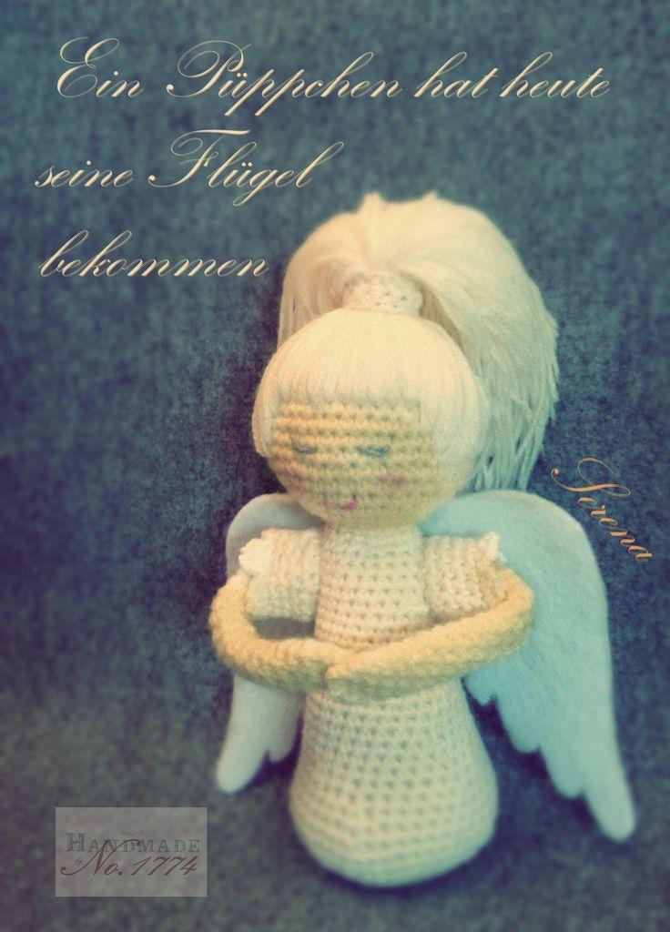 Engel - Kuscheltier - Angel - Crochet - Flügel - Wing - gehäkelt - Figur - Häkelfigur - Handmade