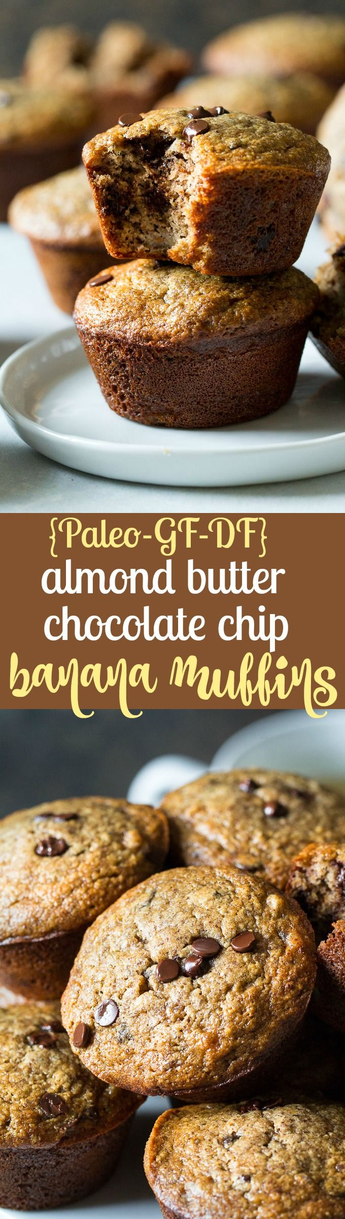 Paleo Almond Butter Banana Muffins with Flaxseed | The Paleo Running Momma